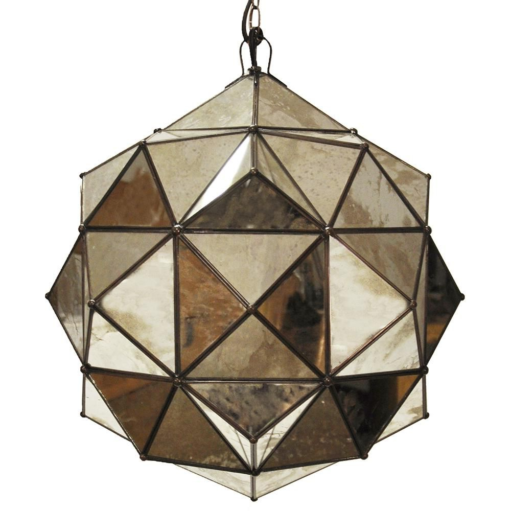 Most Up To Date Hydetown 1 Light Single Geometric Pendants With Worlds Away Valencia Round Clear Glass Faceted Pendant (Gallery 15 of 20)