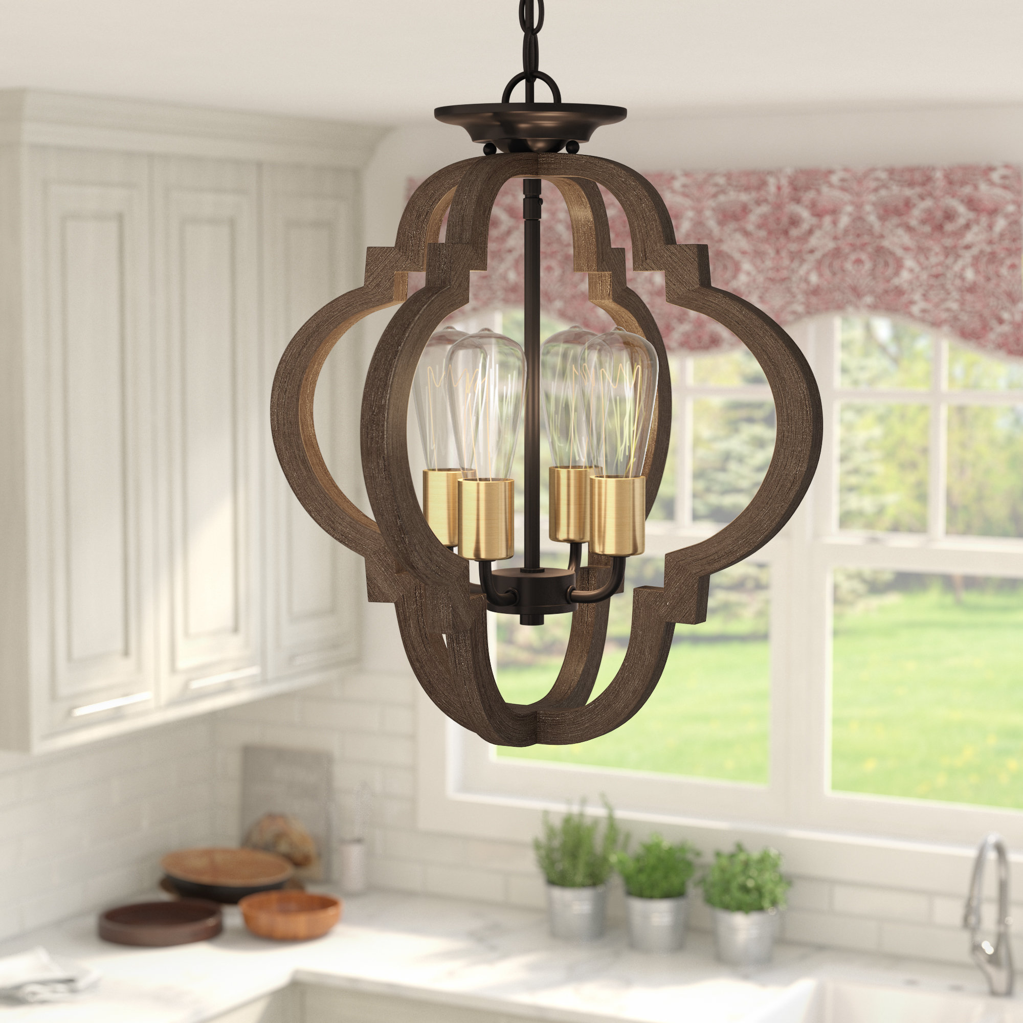 Most Up To Date Kaycee 4 Light Geometric Chandelier With Regard To Lynn 6 Light Geometric Chandeliers (Gallery 6 of 20)
