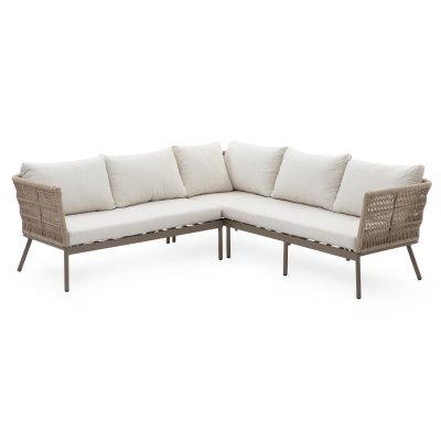 Most Up To Date Keever Patio Sofas With Sunbrella Cushions Pertaining To Belham Living Wicklow Rope Weave Outdoor Sectional Patio (View 15 of 20)