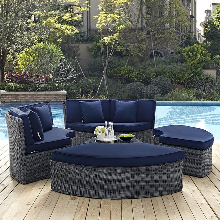 Most Up To Date Keiran Patio Daybeds With Cushions Inside Keiran Daybed With Cushions (View 15 of 20)