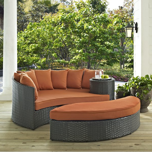 Most Up To Date Keiran Patio Daybeds With Cushions Pertaining To Tripp Patio Daybed With Cushions (View 13 of 20)