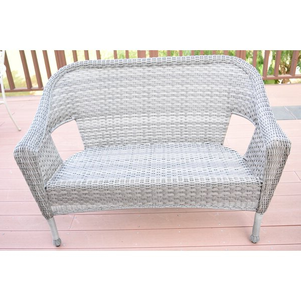 Most Up To Date Kentwood Resin Wicker Loveseat In Karan Wicker Patio Loveseats (View 5 of 20)