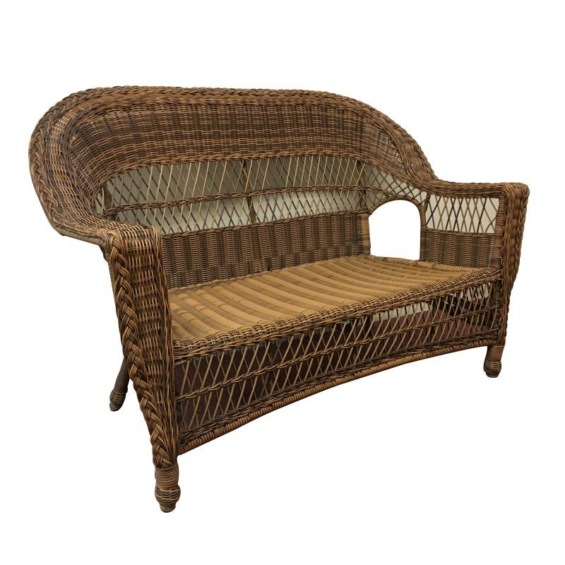 Most Up To Date Kentwood Resin Wicker Loveseats With Regard To Outdoor Elanamar Madison Wicker Patio Loveseat With Cushion (View 15 of 20)
