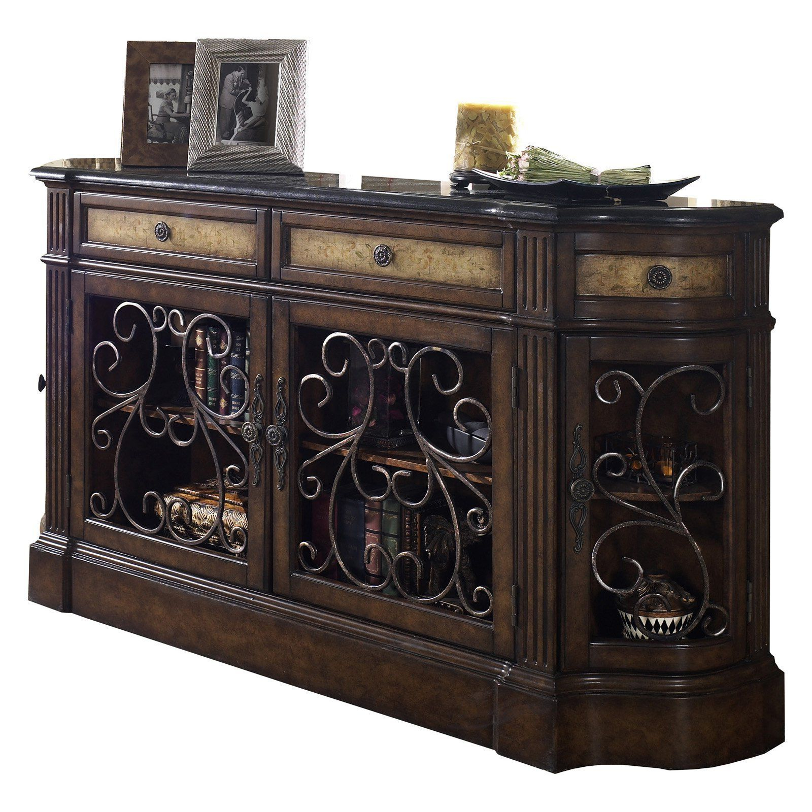 Most Up To Date Kronburgh Sideboards For Pulaski Carmel Granite Topped Accents Credenza – 704255 (Gallery 15 of 20)