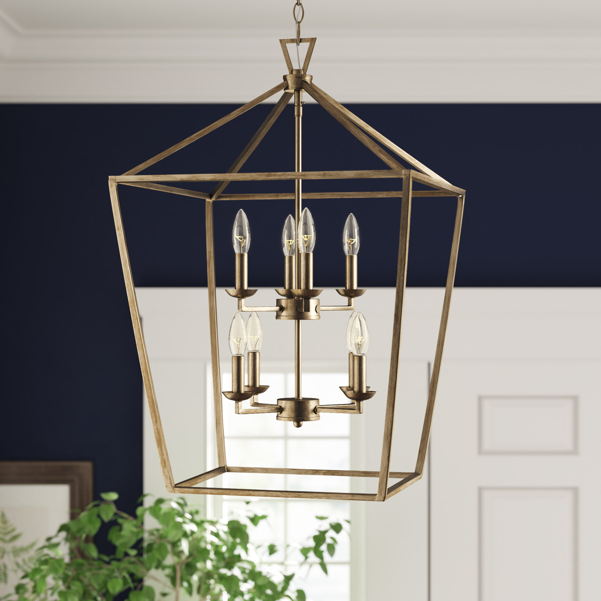 Most Up To Date Laurel Foundry Modern Farmhouse Carmen 8 Light Lantern Geometric Pendant For Carmen 8 Light Lantern Tiered Pendants (View 14 of 20)