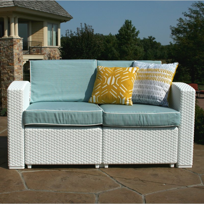 Most Up To Date Loggins Loveseats With Cushions Inside Loggins Patio Loveseat With Cushions (View 16 of 20)