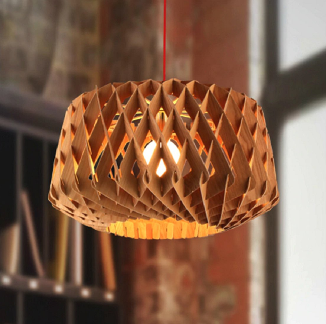 Most Up To Date Melora 1 Light Single Geometric Pendants With Regard To Calfee Wooden 1 Light Geometric Pendant (View 9 of 20)