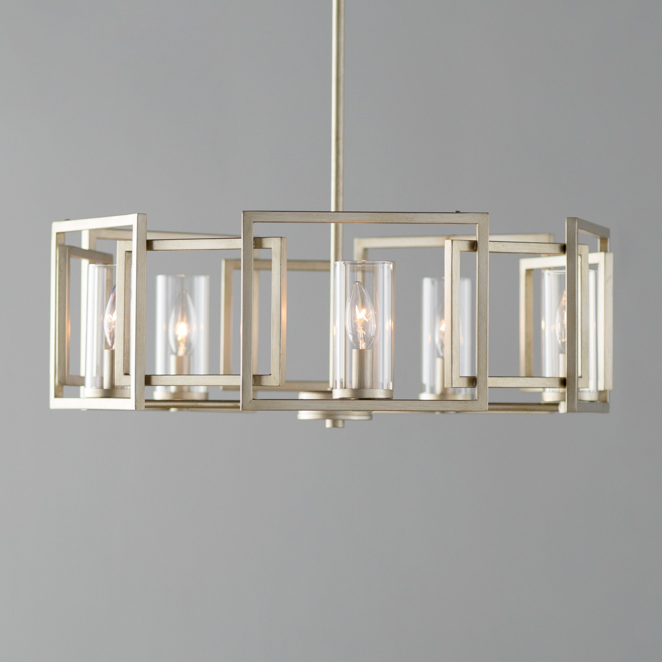 Most Up To Date Mercer41 Sean 5 Light Candle Style Chandelier & Reviews Within Wightman Drum Chandeliers (Gallery 7 of 20)
