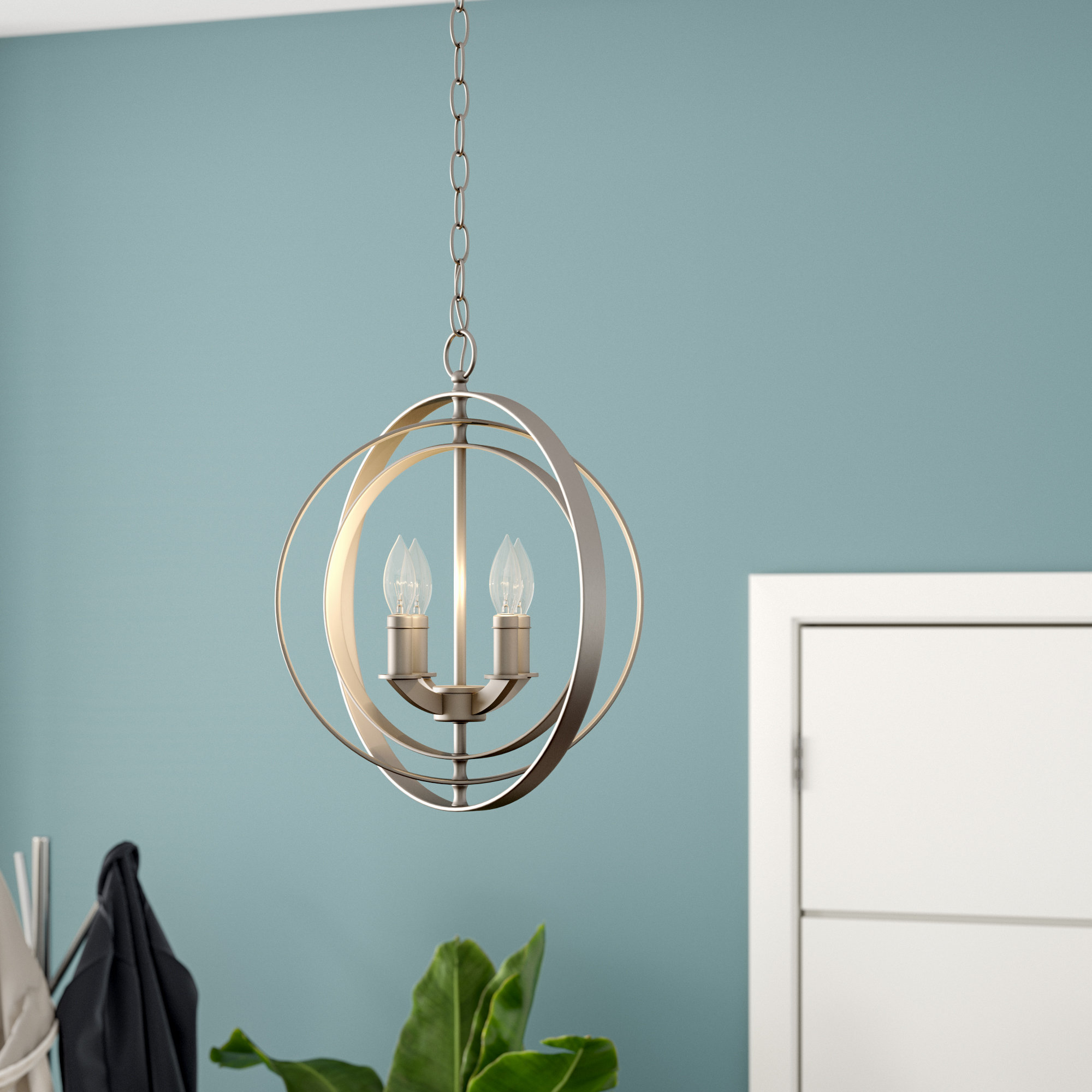 Most Up To Date Morganti 4 Light Chandelier Inside Hendry 4 Light Globe Chandeliers (Gallery 17 of 20)
