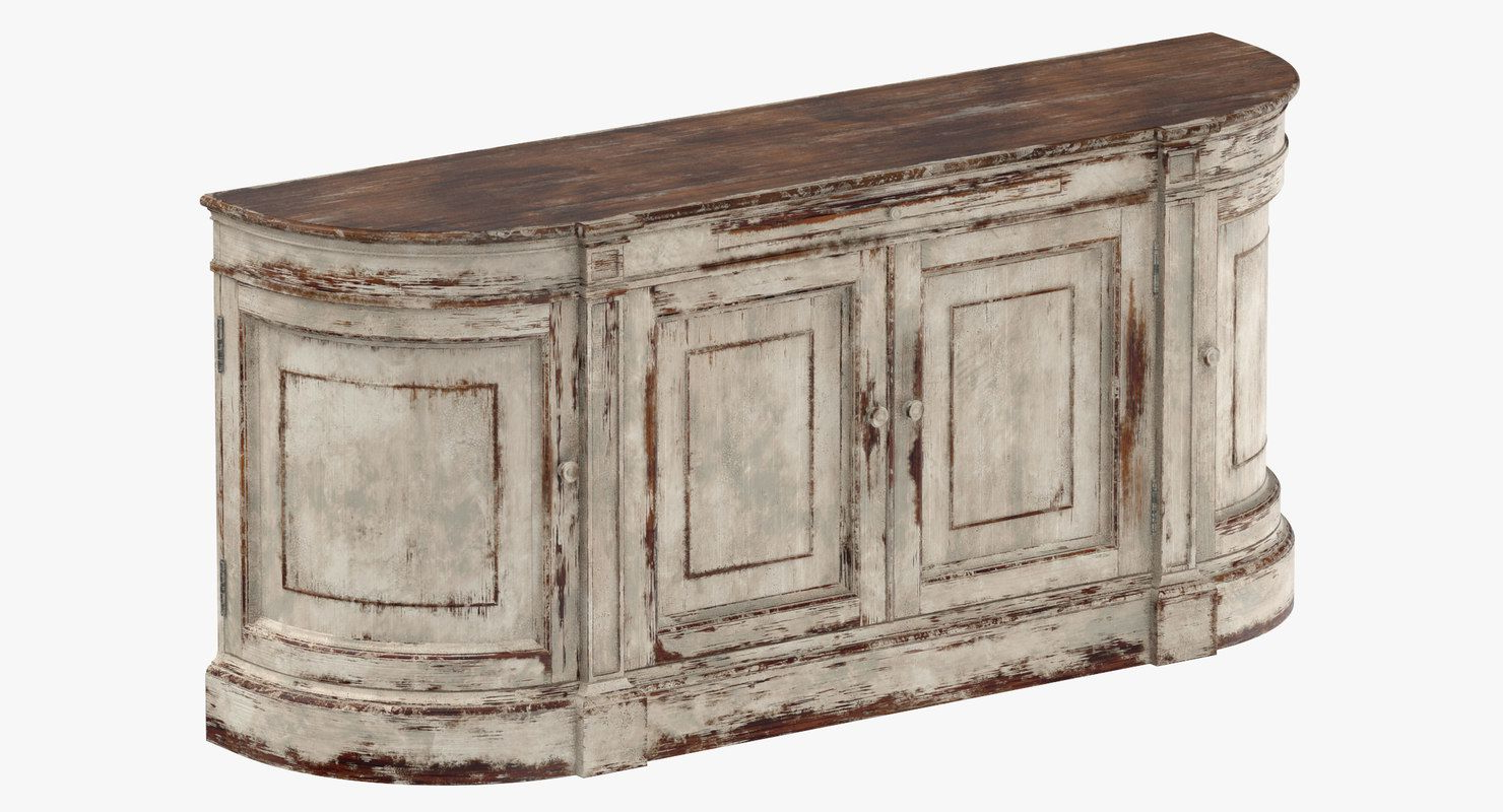 Most Up To Date Payton Serving Sideboards Regarding Traditional Sideboard 3D Model (View 8 of 20)