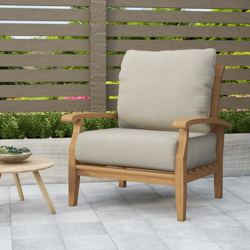 Most Up To Date Summerton Teak Patio Sofas With Cushions With Regard To Summerton Teak Patio Chair With Cushions (View 8 of 20)