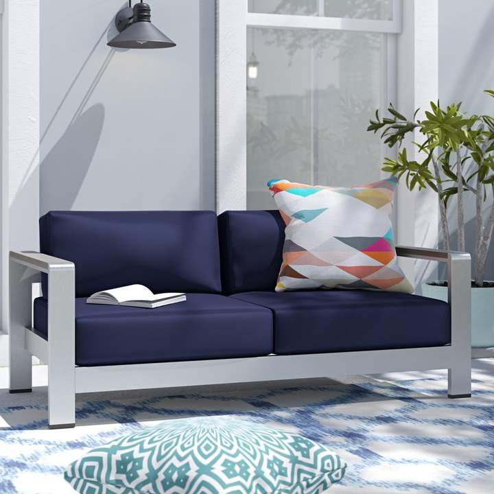 Most Up To Date Wade Logan Bristol Loveseat With Cushions (Gallery 5 of 20)