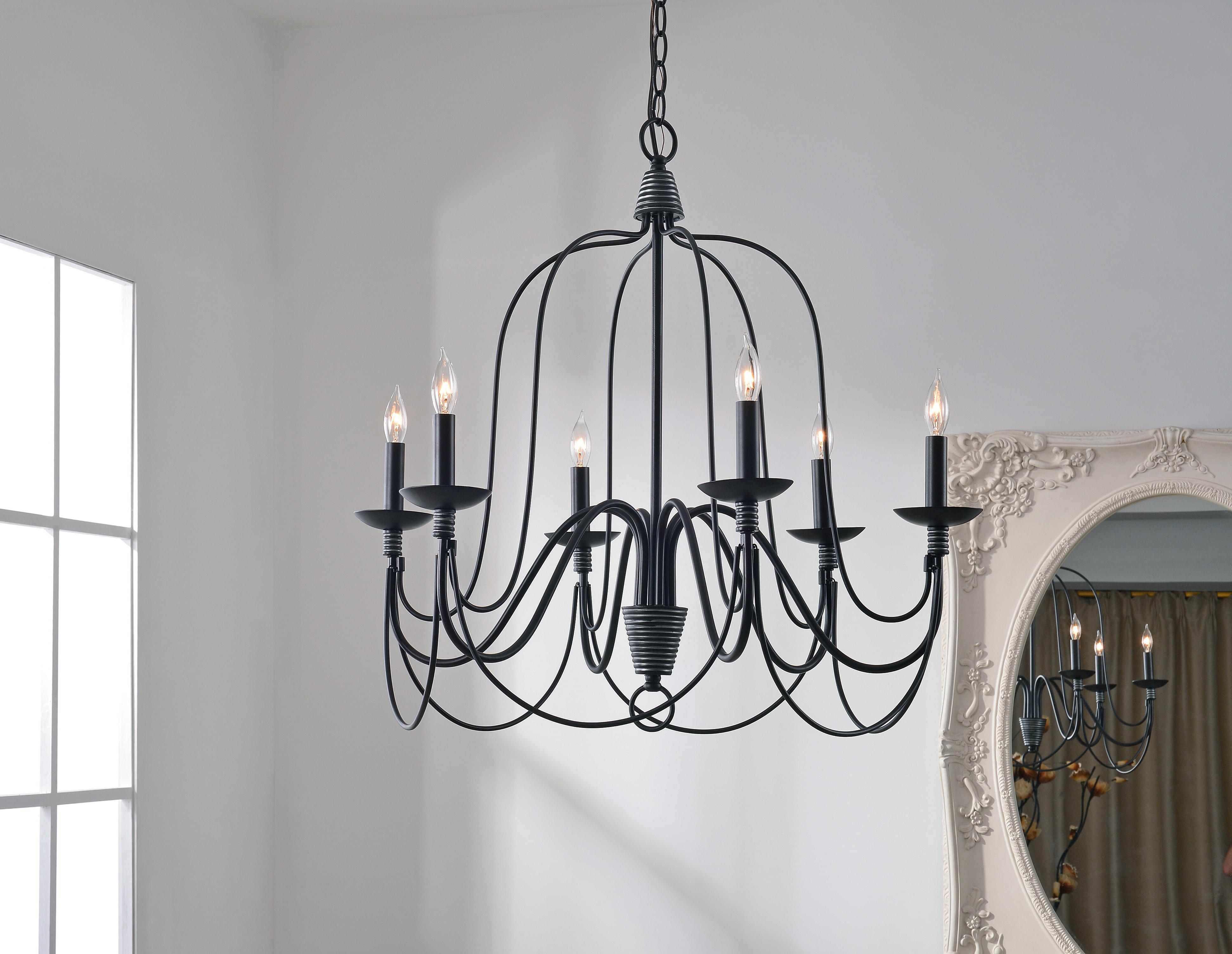 Most Up To Date Watford 9 Light Candle Style Chandeliers Inside Watford 6 Light Candle Style Chandelier (View 9 of 20)