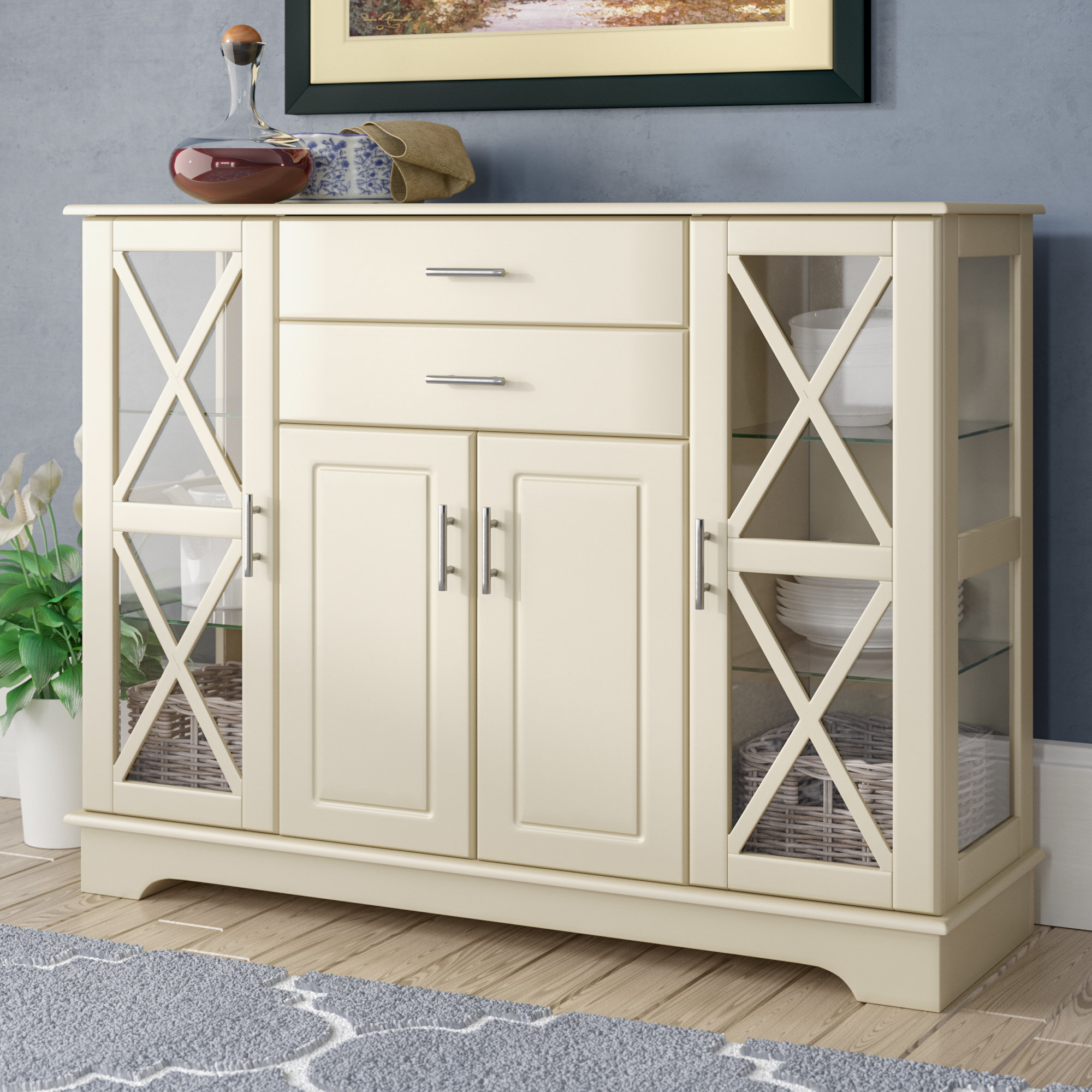 Most Up To Date White Lacquer Credenza (View 11 of 20)