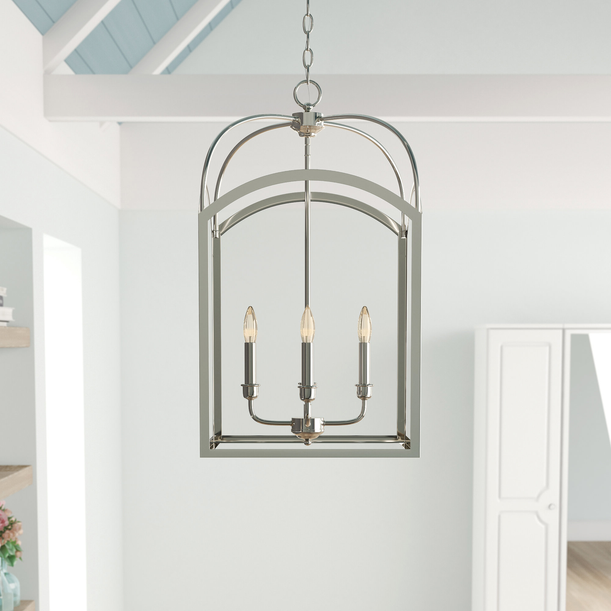 Mount Airy 4 Light Lantern Geometric Pendant With Popular Taya 4 Light Lantern Square Pendants (View 7 of 20)