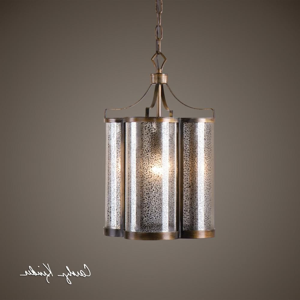 Moyer 1 Light Single Cylinder Pendants Regarding Widely Used Uttermost Croydon 1 Light Mercury Glass Pendant : 9Pwkn (Gallery 18 of 20)
