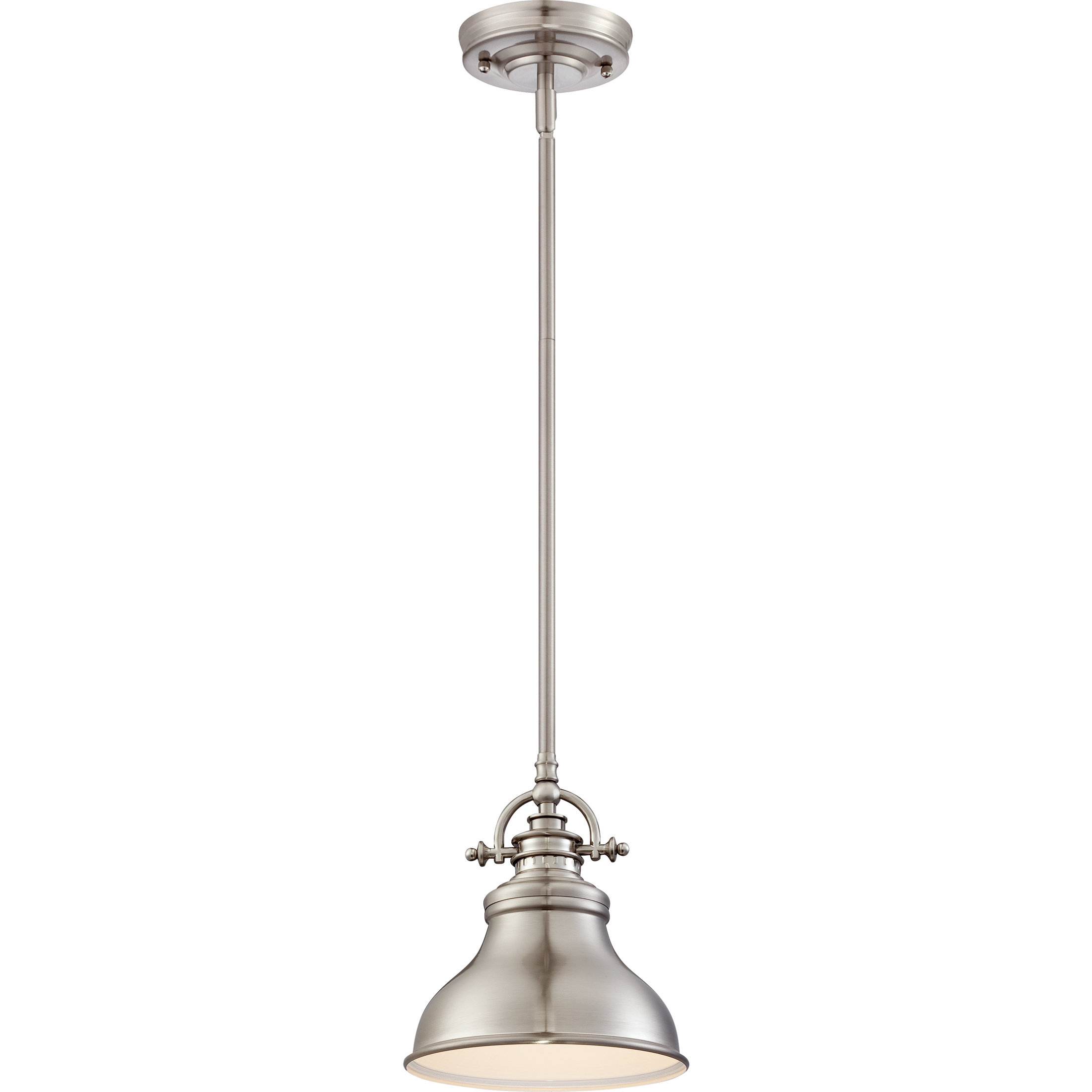 Mueller 1 Light Single Dome Pendants Pertaining To Widely Used Beachcrest Home Mueller 1 Light Single Dome Pendant (Gallery 4 of 20)