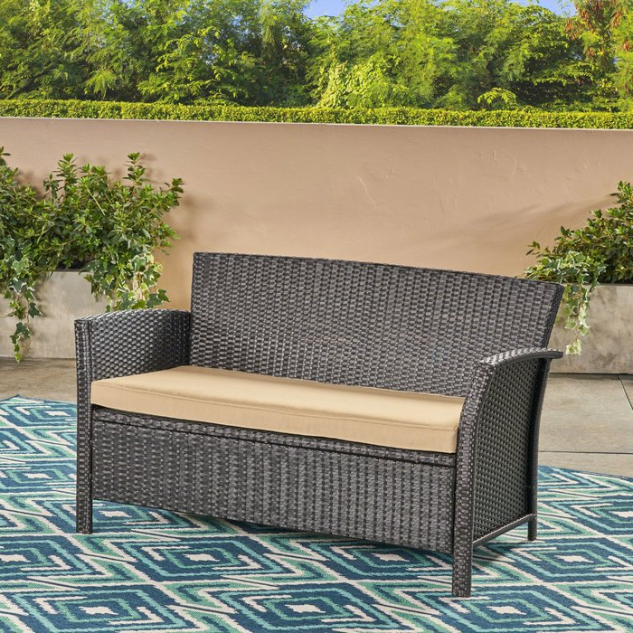 Mullenax Outdoor Loveseat With Cushions Inside Recent Mullenax Outdoor Loveseats With Cushions (Gallery 2 of 20)