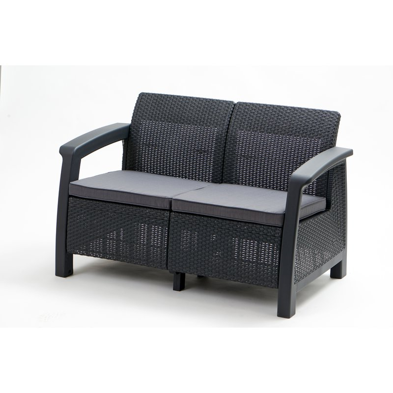 Mullenax Outdoor Loveseats With Cushions Throughout Widely Used Berard Patio Loveseat With Cushions (View 11 of 20)
