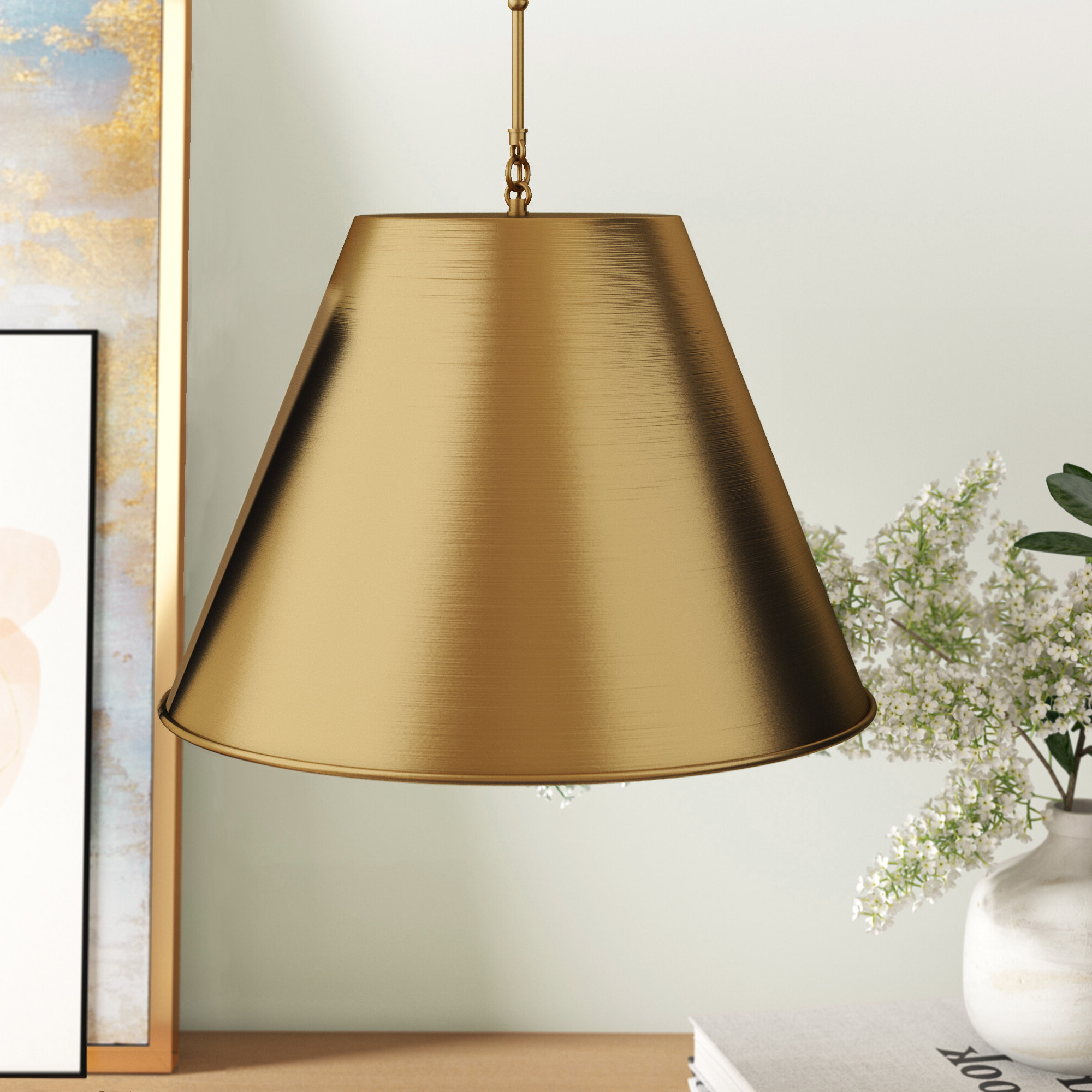 Nadeau 1 Light Single Cone Pendant In Fashionable Nadeau 1 Light Single Cone Pendants (View 7 of 20)