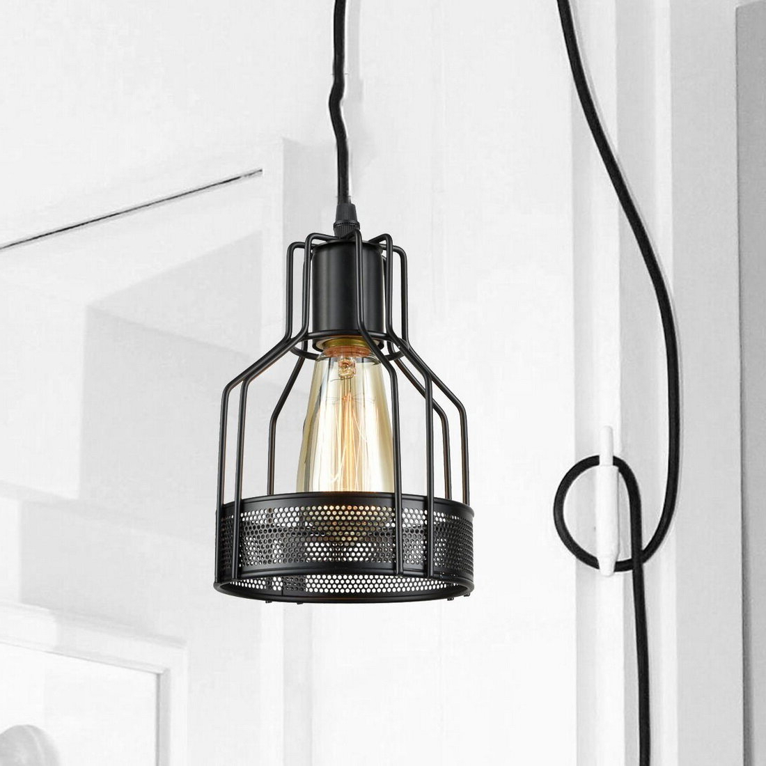 Nadeau Plug In 1 Light Geometric Pendant Within 2020 Nadeau 1 Light Single Cone Pendants (View 15 of 20)