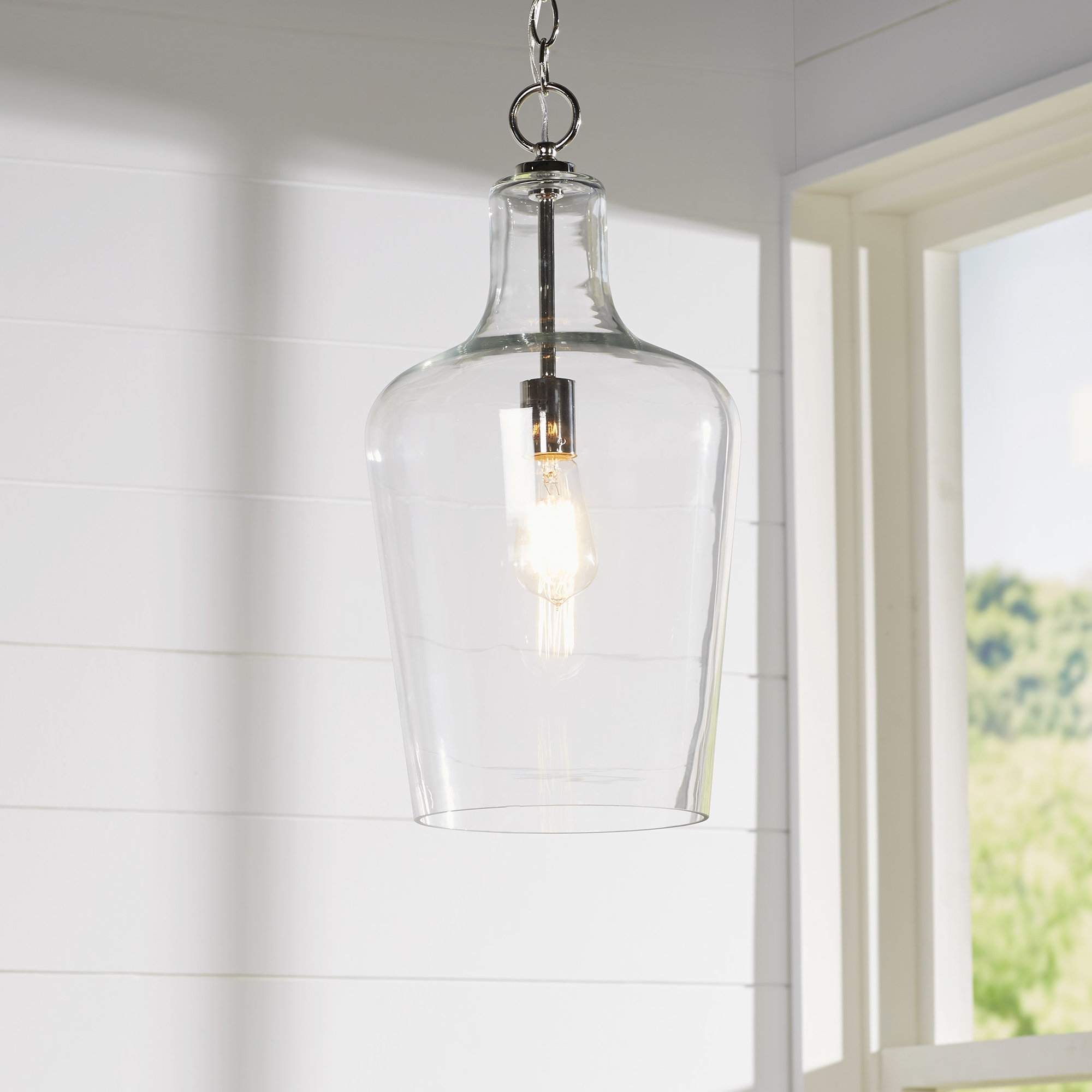 Nadine 1 Light Single Schoolhouse Pendants Throughout 2019 Carey 1 Light Single Bell Pendant (Gallery 17 of 20)