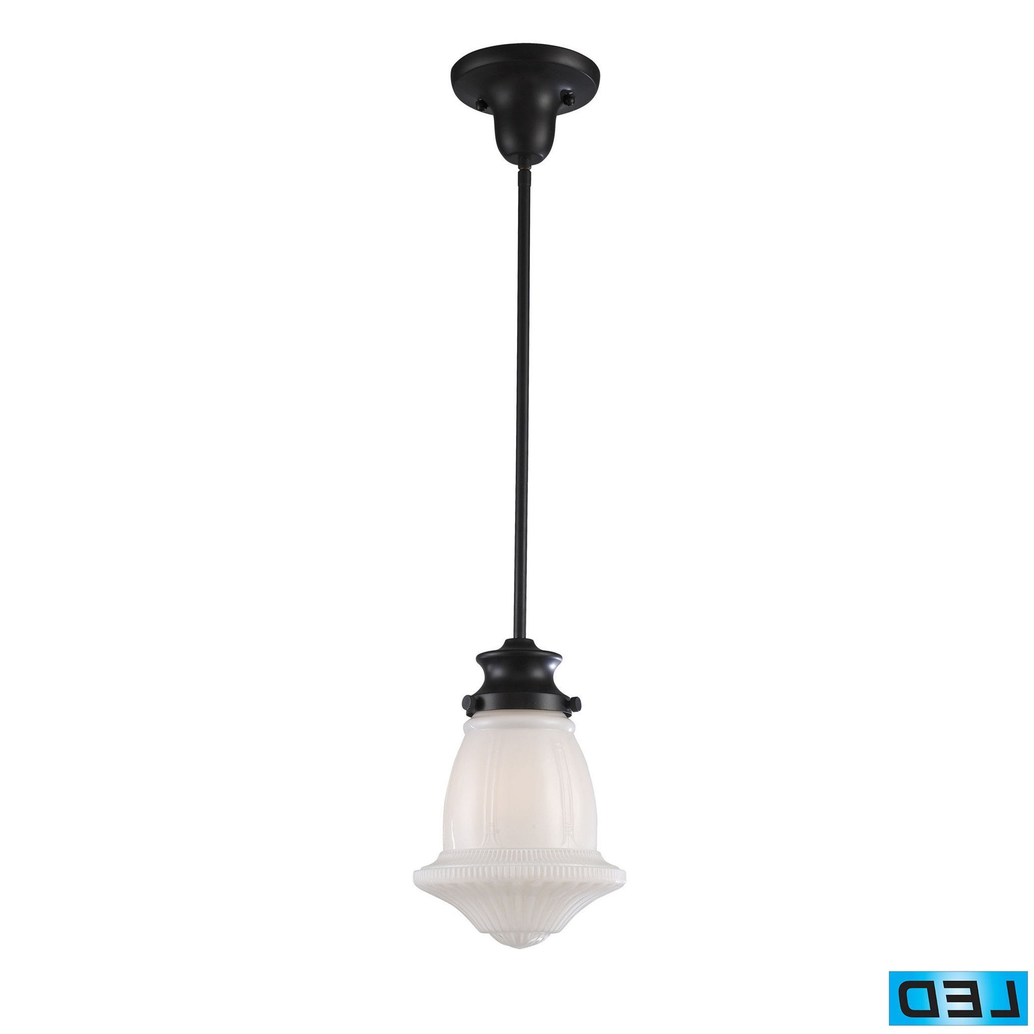 Nadine 1 Light Single Schoolhouse Pendants Throughout Fashionable Elk Lighting 69039 1 Led Schoolhouse Pendants Collection (Gallery 19 of 20)