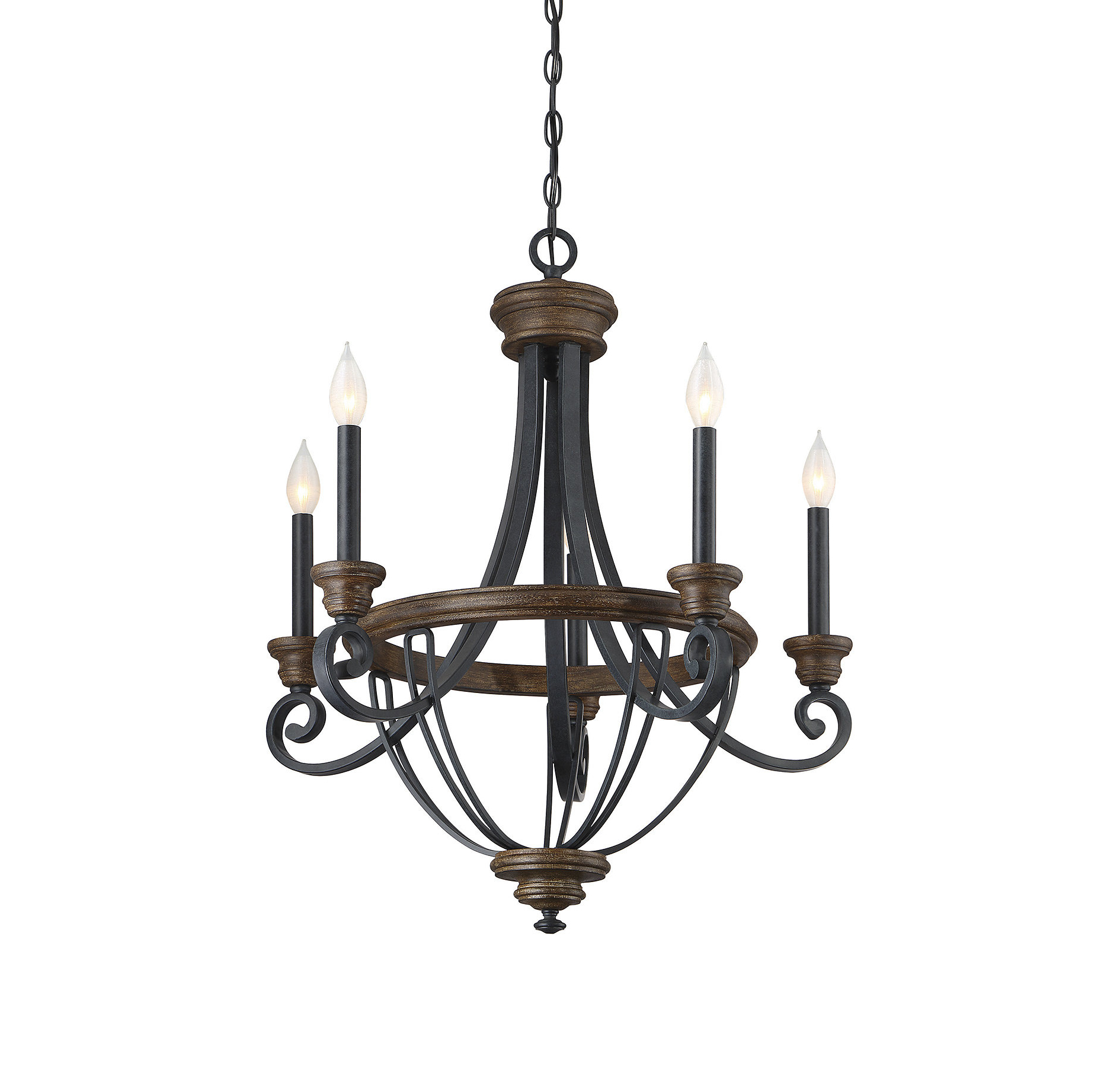 Nanteuil 5 Light Empire Chandelier Intended For 2020 Camilla 9 Light Candle Style Chandeliers (Gallery 11 of 20)
