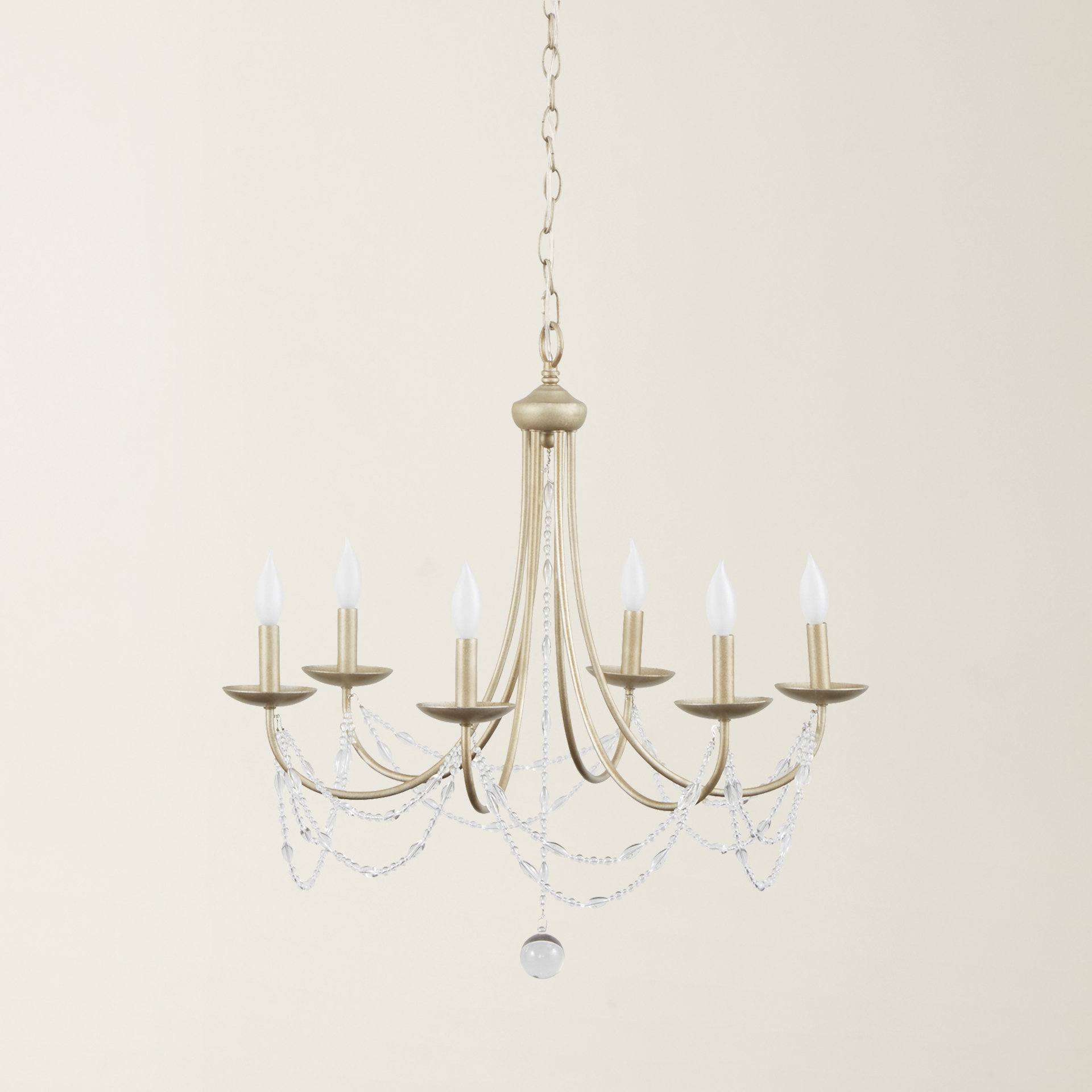 Nantucket 6 Light Candle Style Chandelier For Most Up To Date Shaylee 8 Light Candle Style Chandeliers (View 12 of 20)
