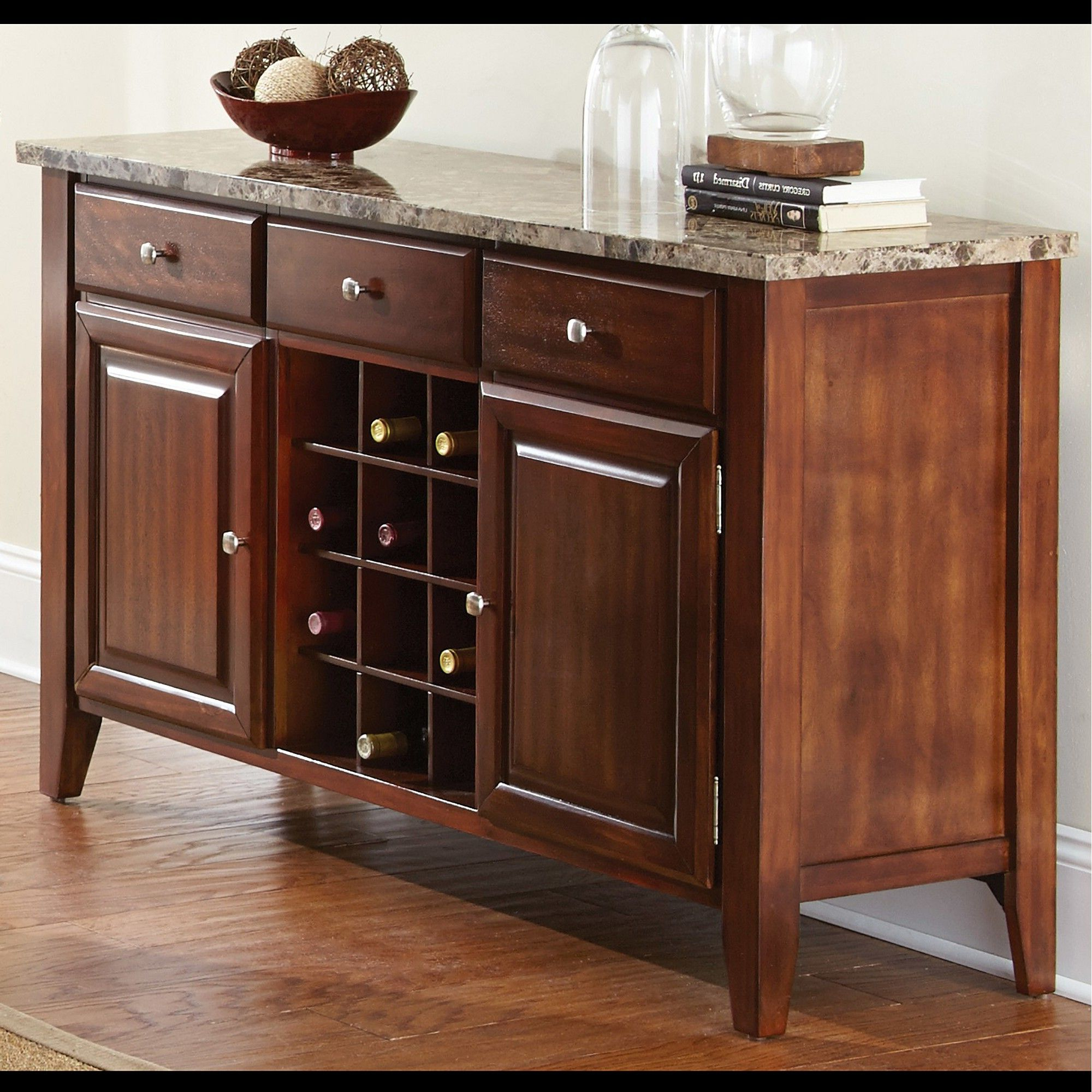 Nashoba Sideboards Regarding Well Known Fergus Server Cherry – Steve Silver, Brown (View 9 of 20)
