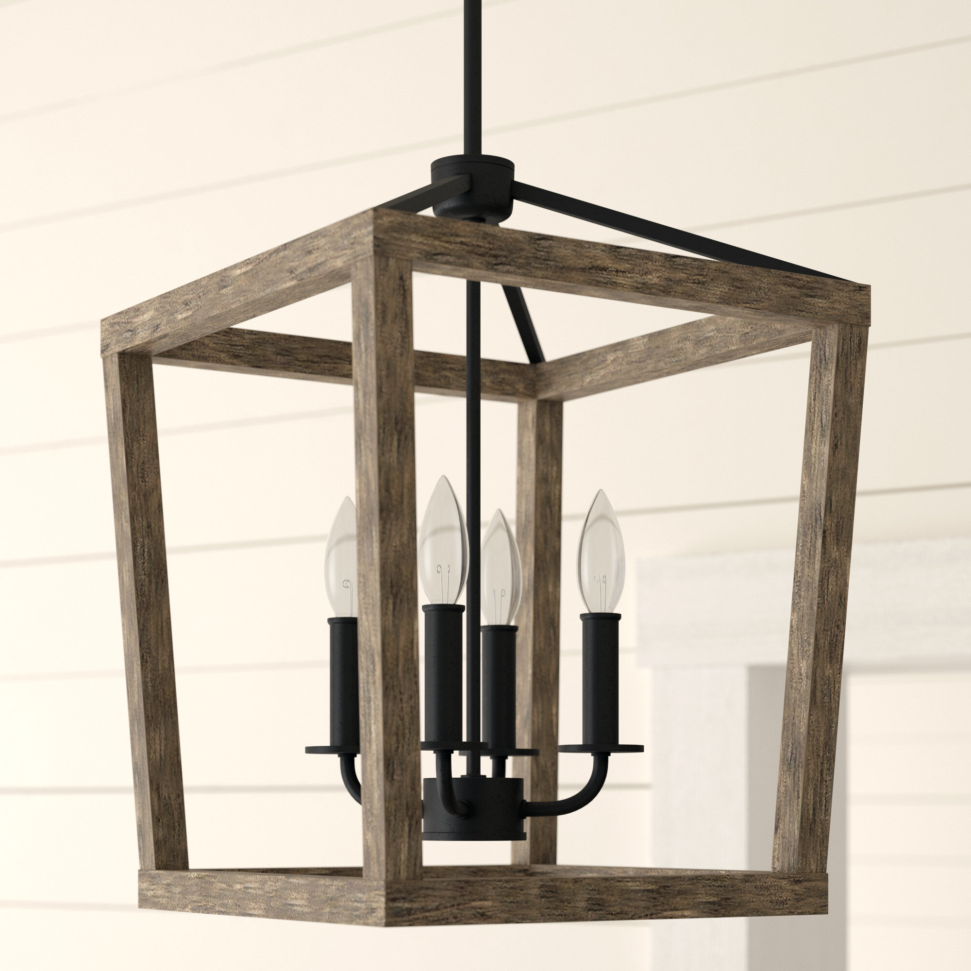 Natarsha 4 Light Lantern Pendant Intended For Most Recently Released Odie 4 Light Lantern Square Pendants (View 4 of 20)