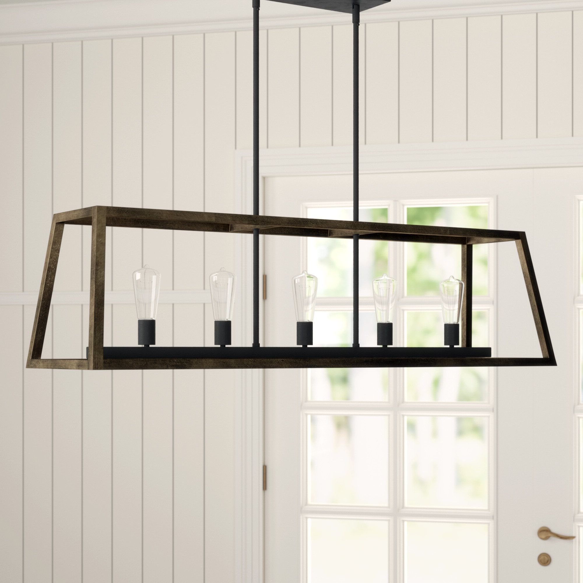 Natarsha 5 Light Kitchen Island Linear Pendant Intended For Most Recently Released Hinerman 5 Light Kitchen Island Pendants (Gallery 8 of 20)