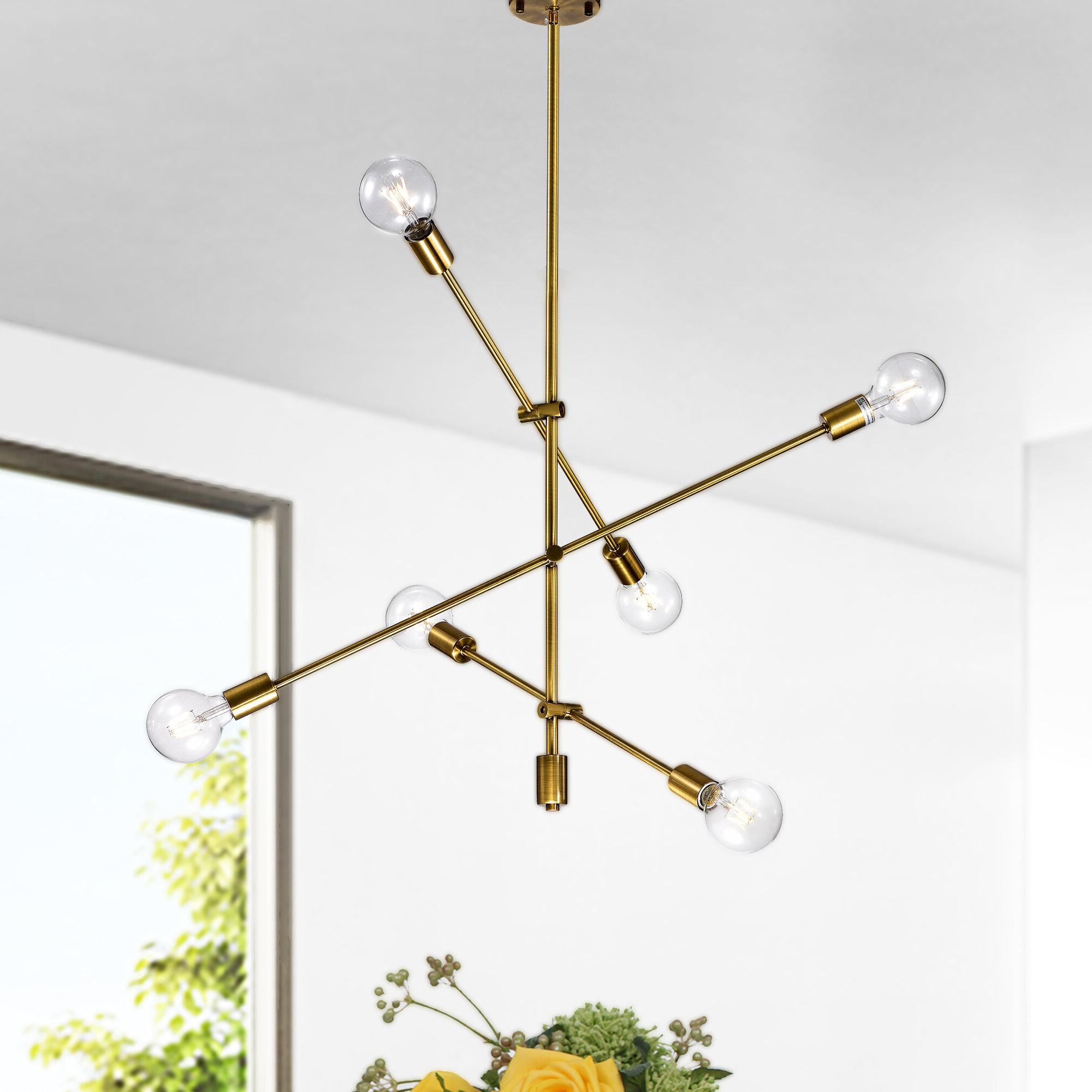 Naughton 6 Light Sputnik Chandelier Inside Best And Newest Johanne 6 Light Sputnik Chandeliers (View 17 of 20)