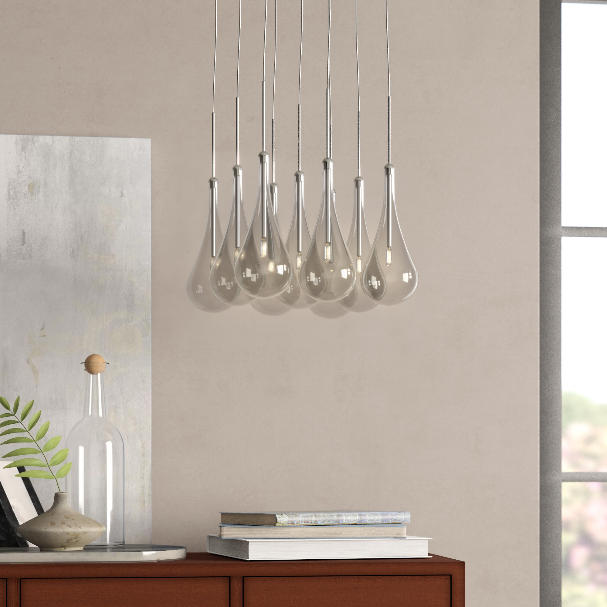 Neal 9 Light Pendant With Popular Neal 9 Light Kitchen Island Teardrop Pendants (View 14 of 20)