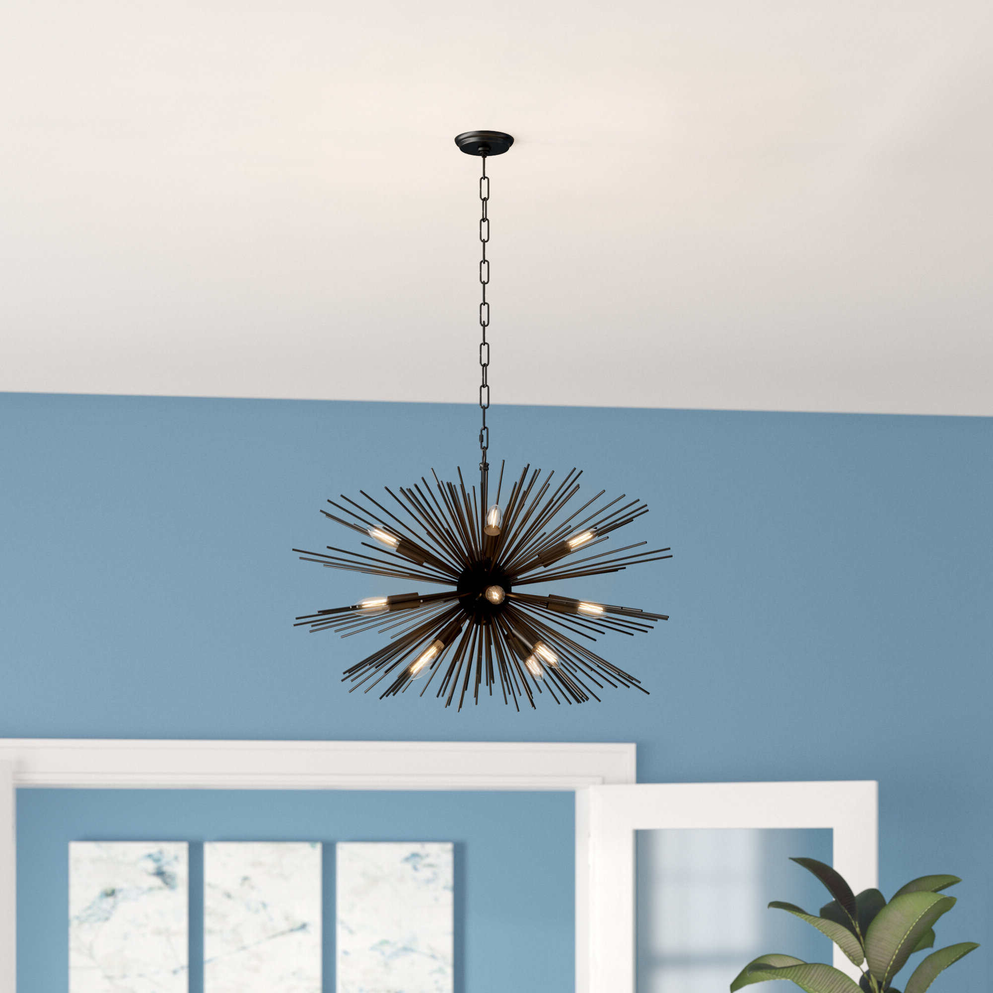 Nelly 12 Light Sputnik Chandeliers Intended For Best And Newest Modern Rustic Interiors Nelly 12 Light Sputnik Chandelier (Gallery 9 of 20)