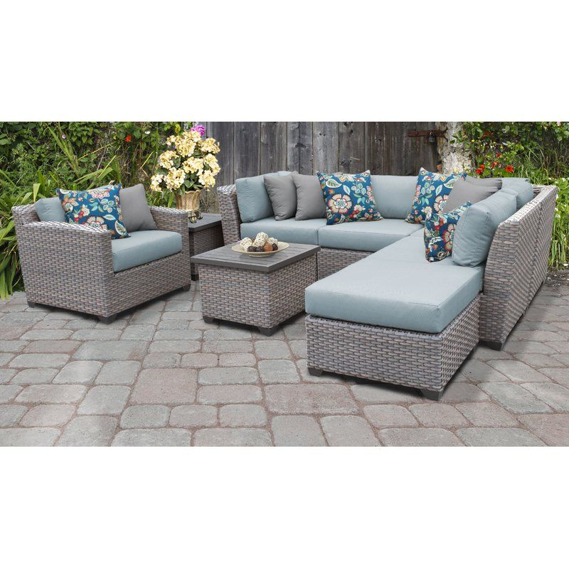 New Throughout Trendy Meeks Patio Sofas With Cushions (View 14 of 20)