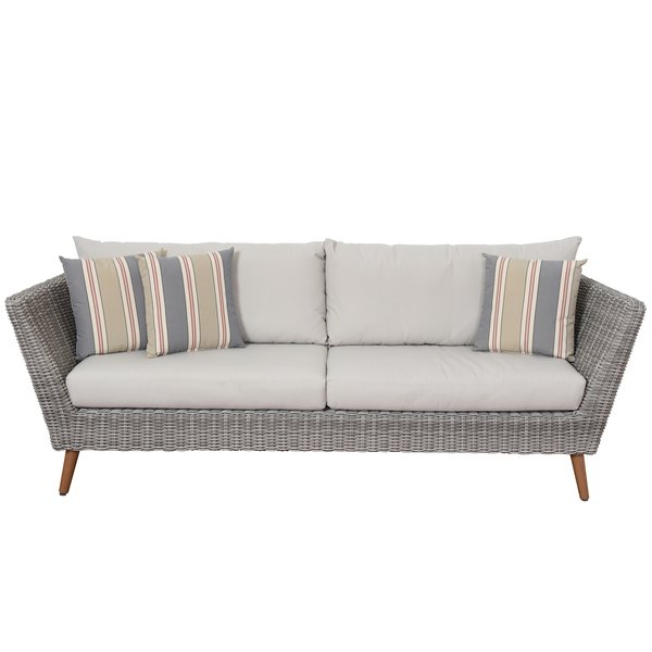 Newbury Patio Sofa With Cushions Throughout Most Up To Date Michal Patio Sofas With Cushions (View 7 of 20)