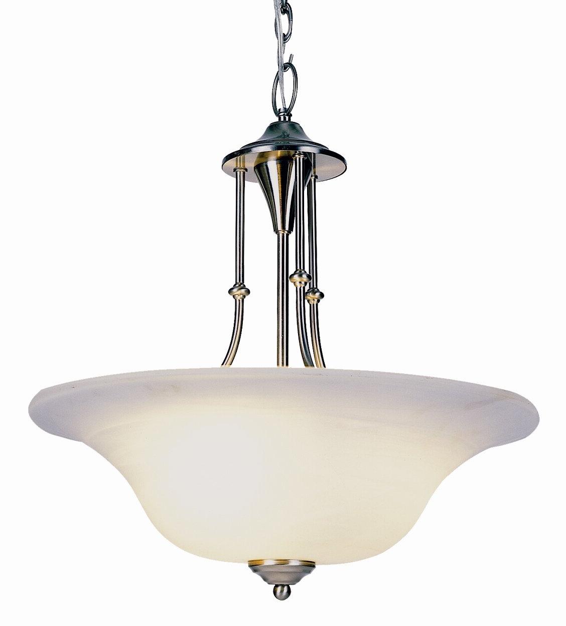 Newent 3 Light Single Bowl Pendants Intended For Preferred Newent 3 Light Bowl Pendant (View 3 of 20)