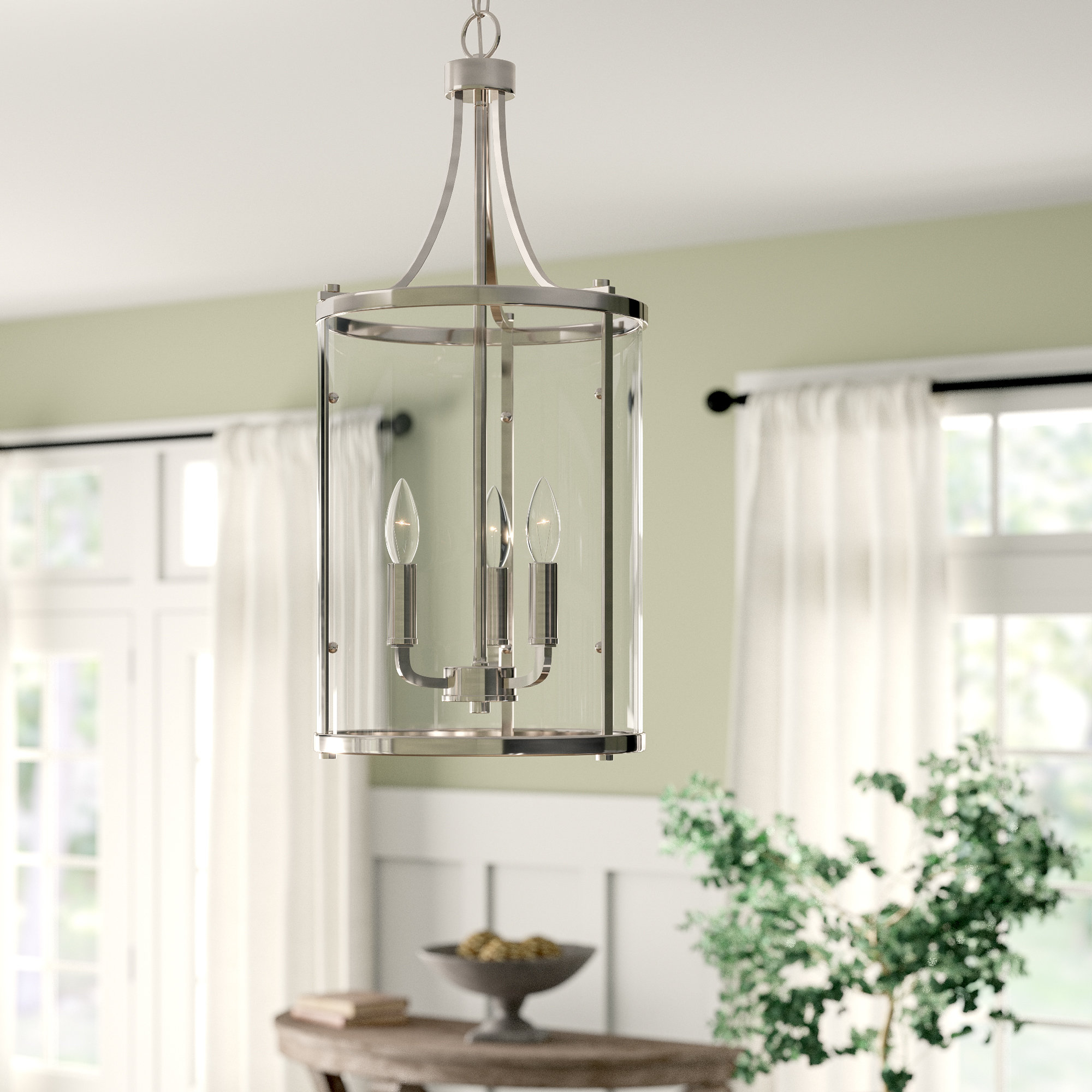 Newent 3 Light Single Bowl Pendants Regarding Preferred Birch Lane™ Heritage 3 Light Lantern Pendant (View 11 of 20)