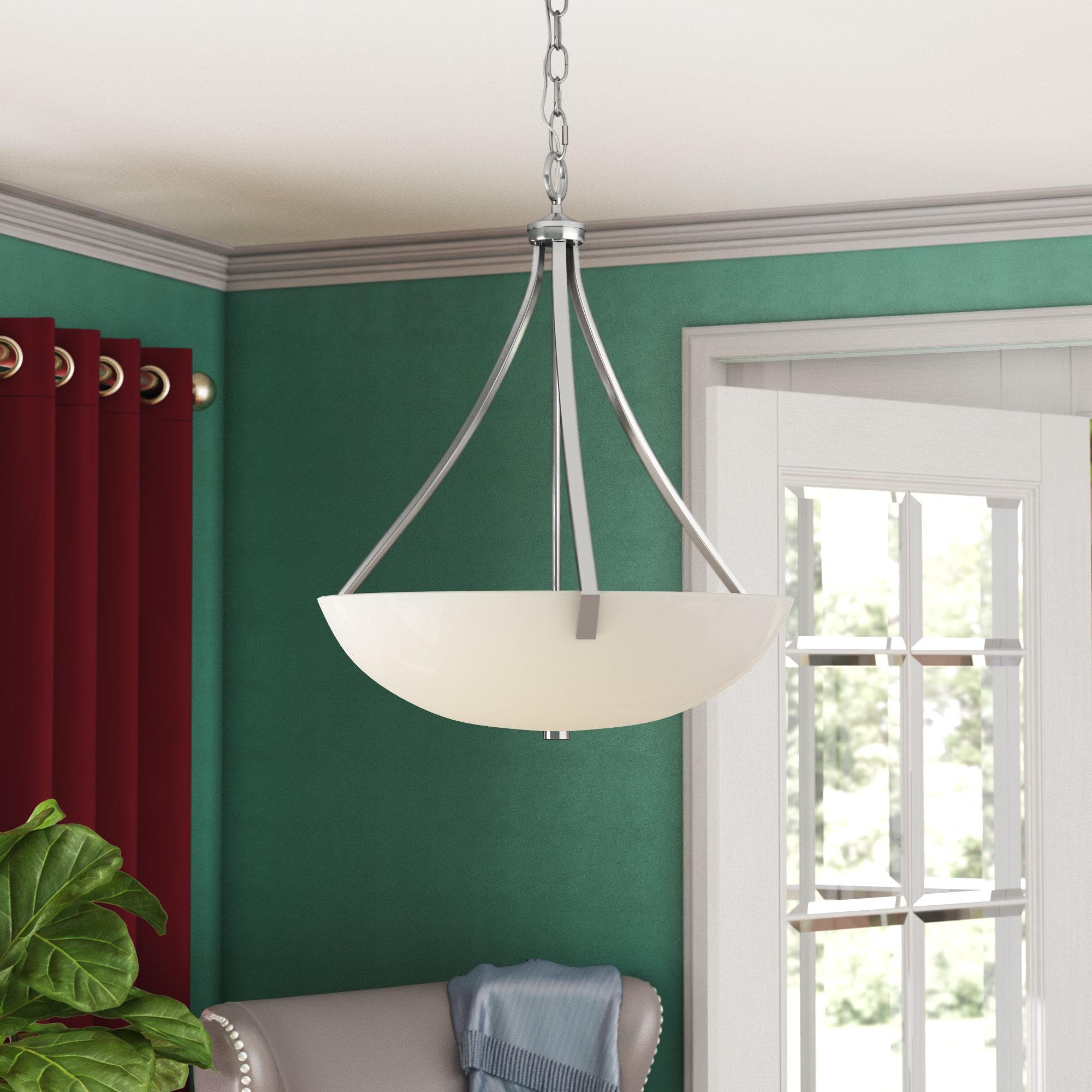 Newent 3 Light Single Bowl Pendants With Current Vandorn 3 Light Bowl Pendant (Gallery 11 of 20)