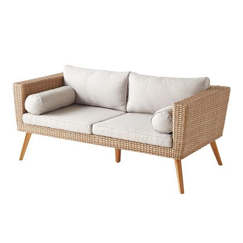 Newest Bari Sand Loveseat With Cushions In (View 13 of 20)