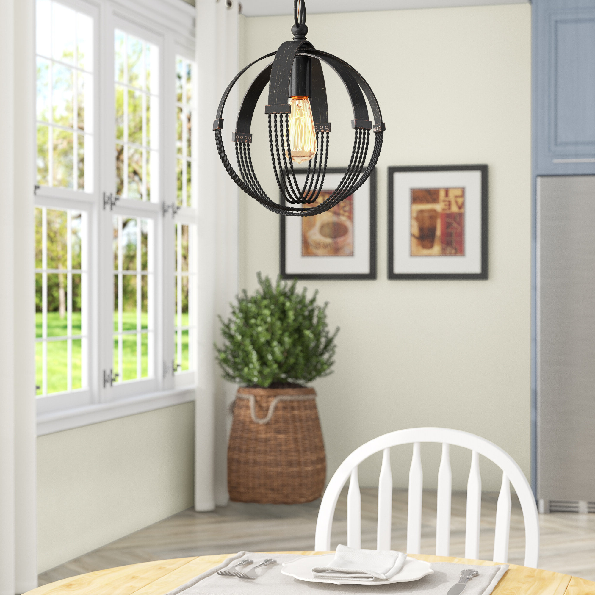 Newest Branscome 1 Light Single Globe Pendant Inside Prange 1 Light Single Globe Pendants (Gallery 9 of 20)