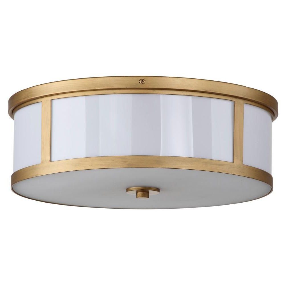 Newest Breithaup 4 Light Drum Chandeliers With Safavieh Avery Ceiling Drum 2 Light Antique Gold Flush Mount (View 12 of 20)