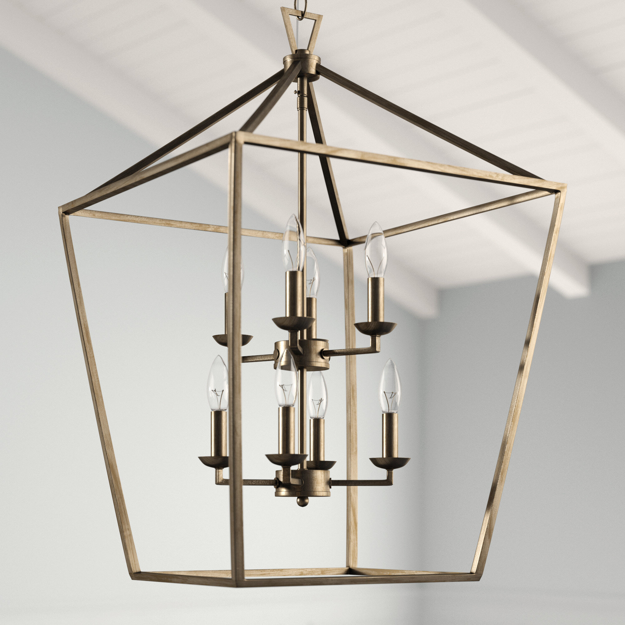 Newest Carmen 8 Light Lantern Geometric Pendant Inside Carmen 8 Light Lantern Tiered Pendants (Gallery 5 of 20)