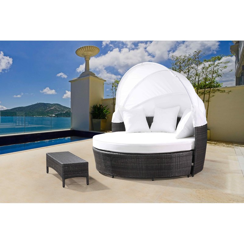 Newest Carrasco Patio Daybed With Cushions With Carrasco Patio Daybeds With Cushions (Gallery 1 of 20)