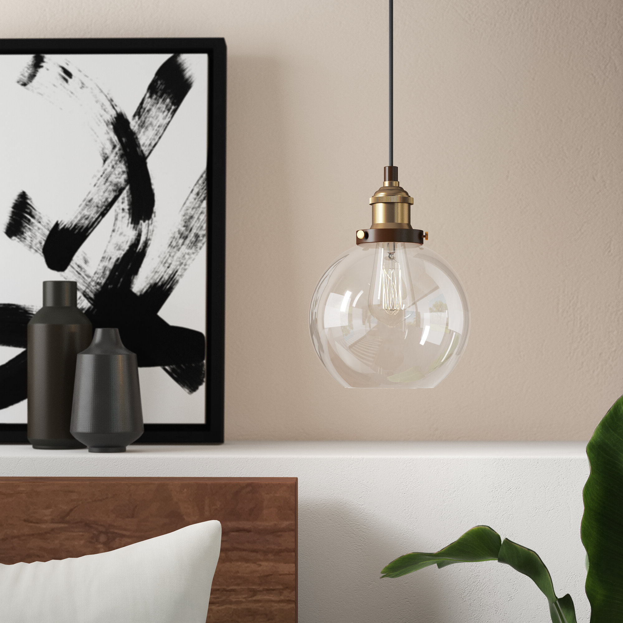 Newest Dunneback 1 Light Single Globe Pendant With Gehry 1 Light Single Globe Pendants (View 3 of 20)