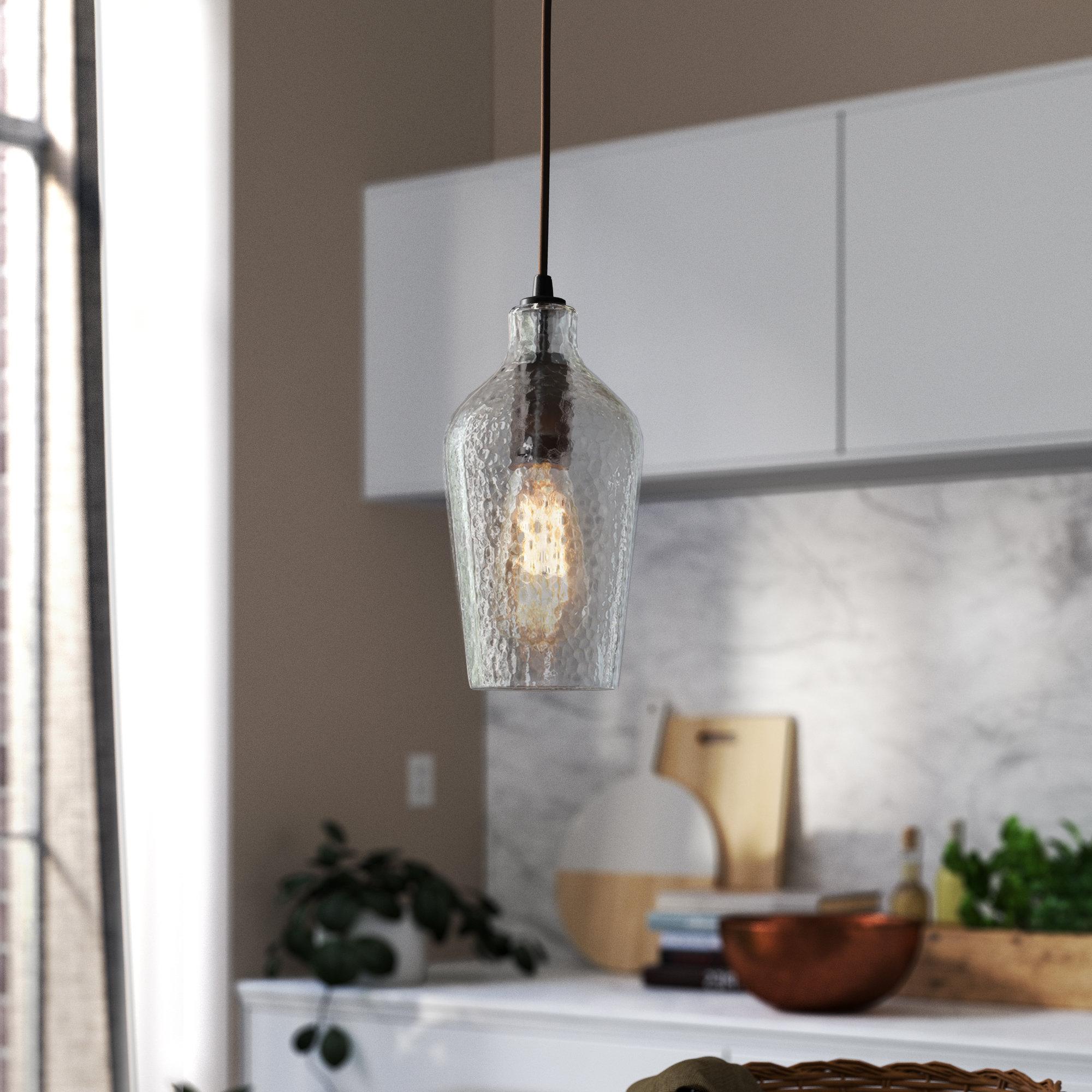 Newest Edmundo 1 Light Unique / Statement Geometric Pendants Regarding Woodrow 1 Light Led Bell Pendant (View 14 of 20)