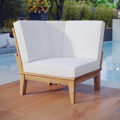 Newest Elaina Teak Loveseats With Cushions Inside Beachcrest Home Elaina Teak Patio Chair With Cushions Color (View 18 of 20)