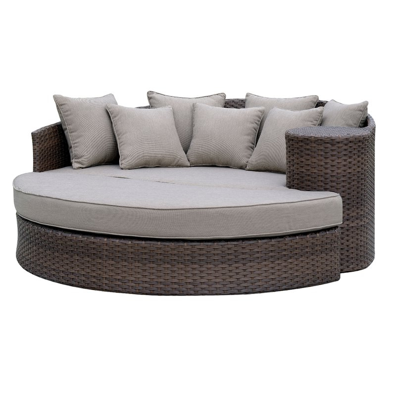 Newest Fansler Patio Daybeds With Cushions With Whyte Contemporary Patio Daybed With Cushions (View 17 of 20)