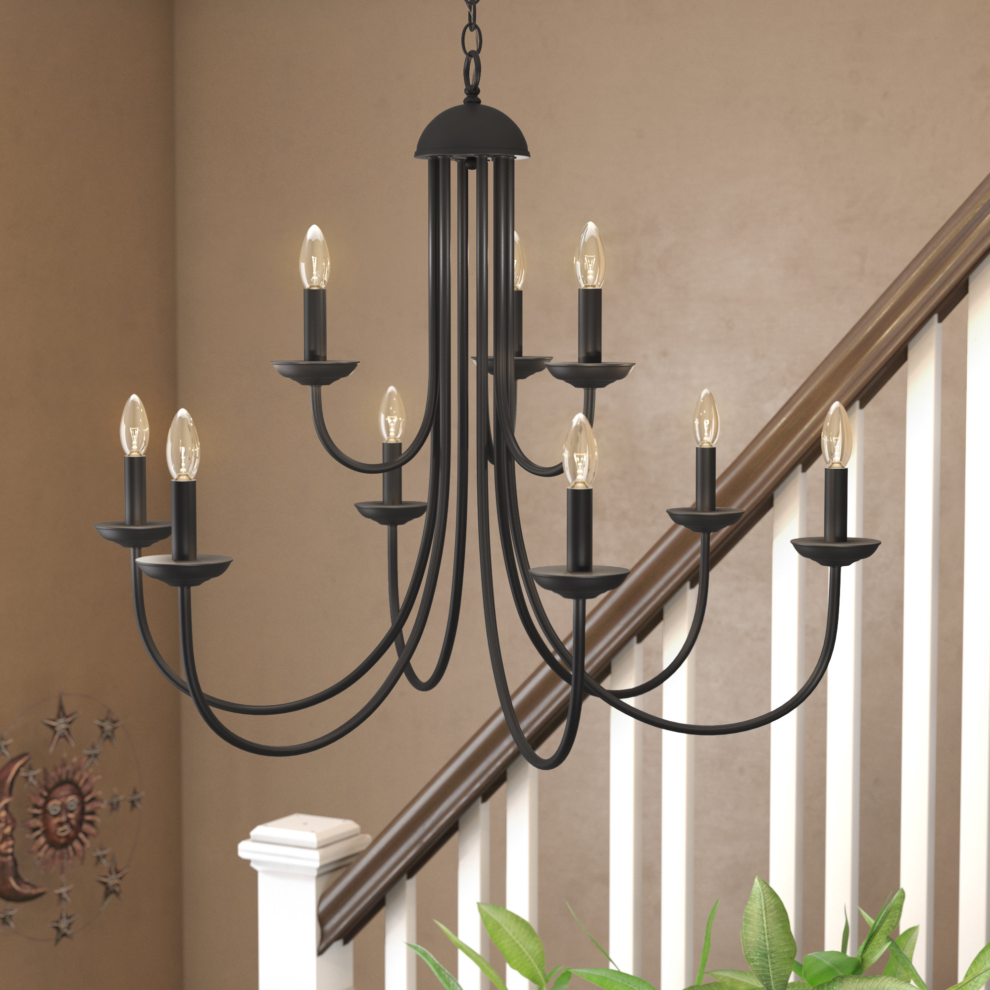 Newest Farmhouse & Rustic Charlton Home Chandeliers (View 18 of 20)